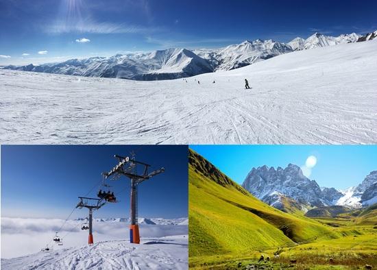 グダウリの山岳リゾートは、冬だけでなく、夏も人気が高い