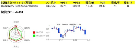 BLOOMBERRY Resorts Corp.(BLOOM)の投資力データ